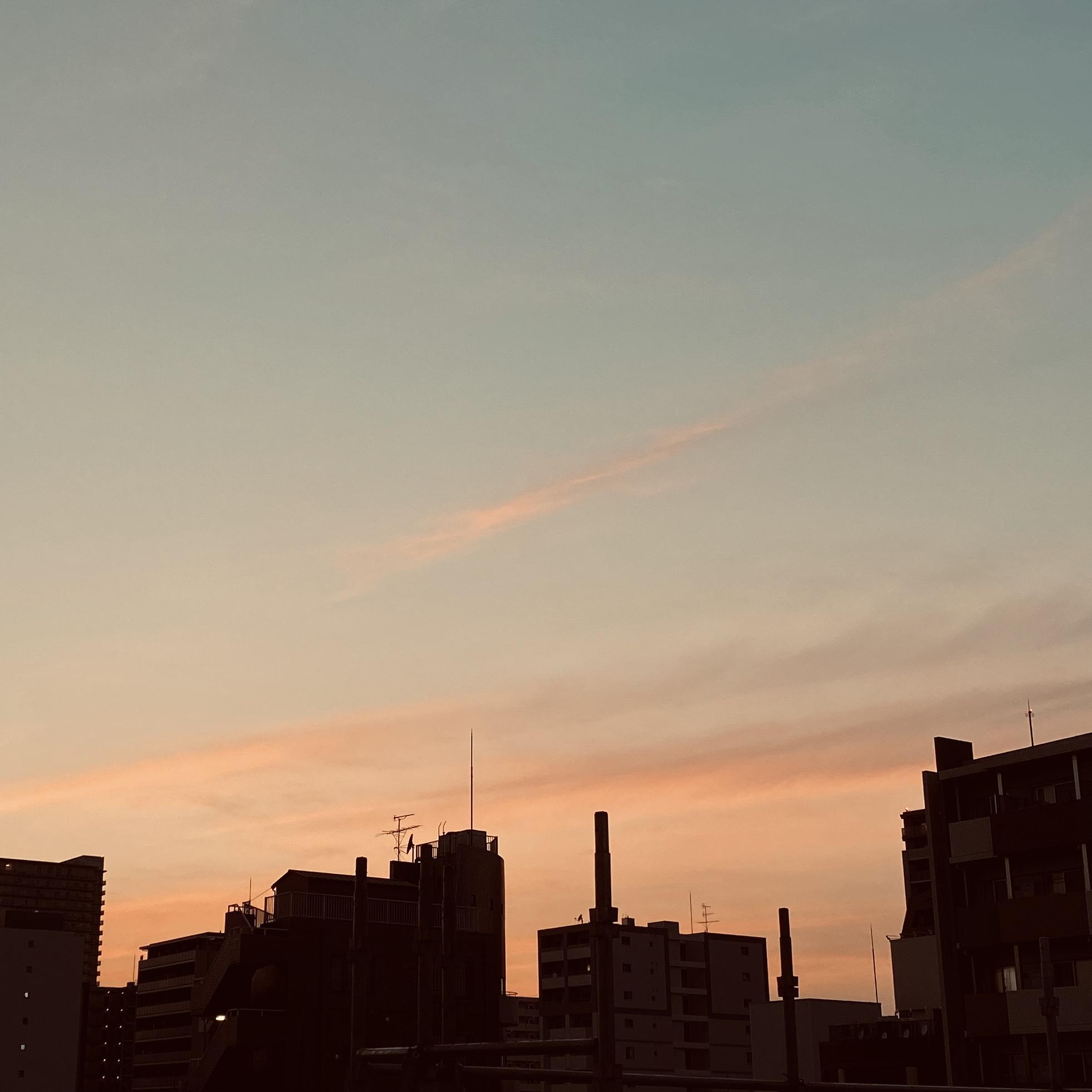 夕刻、夕暮れ、夕焼け空
