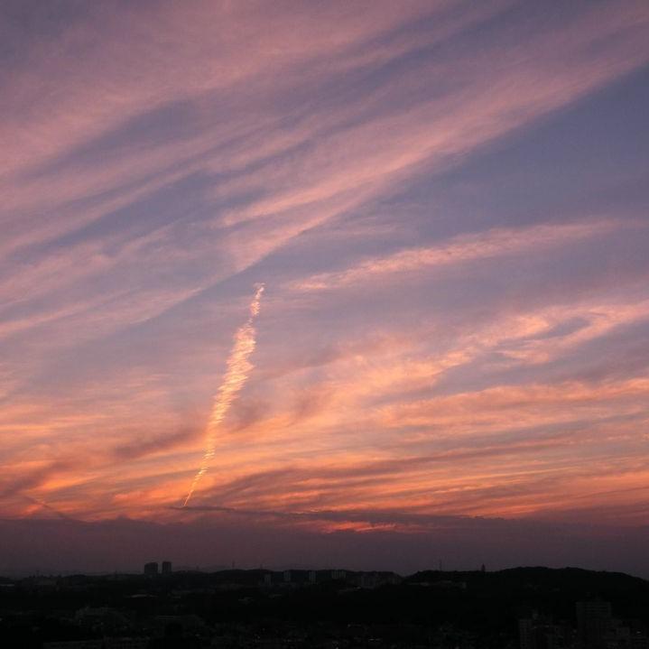 2015年の夕焼け
