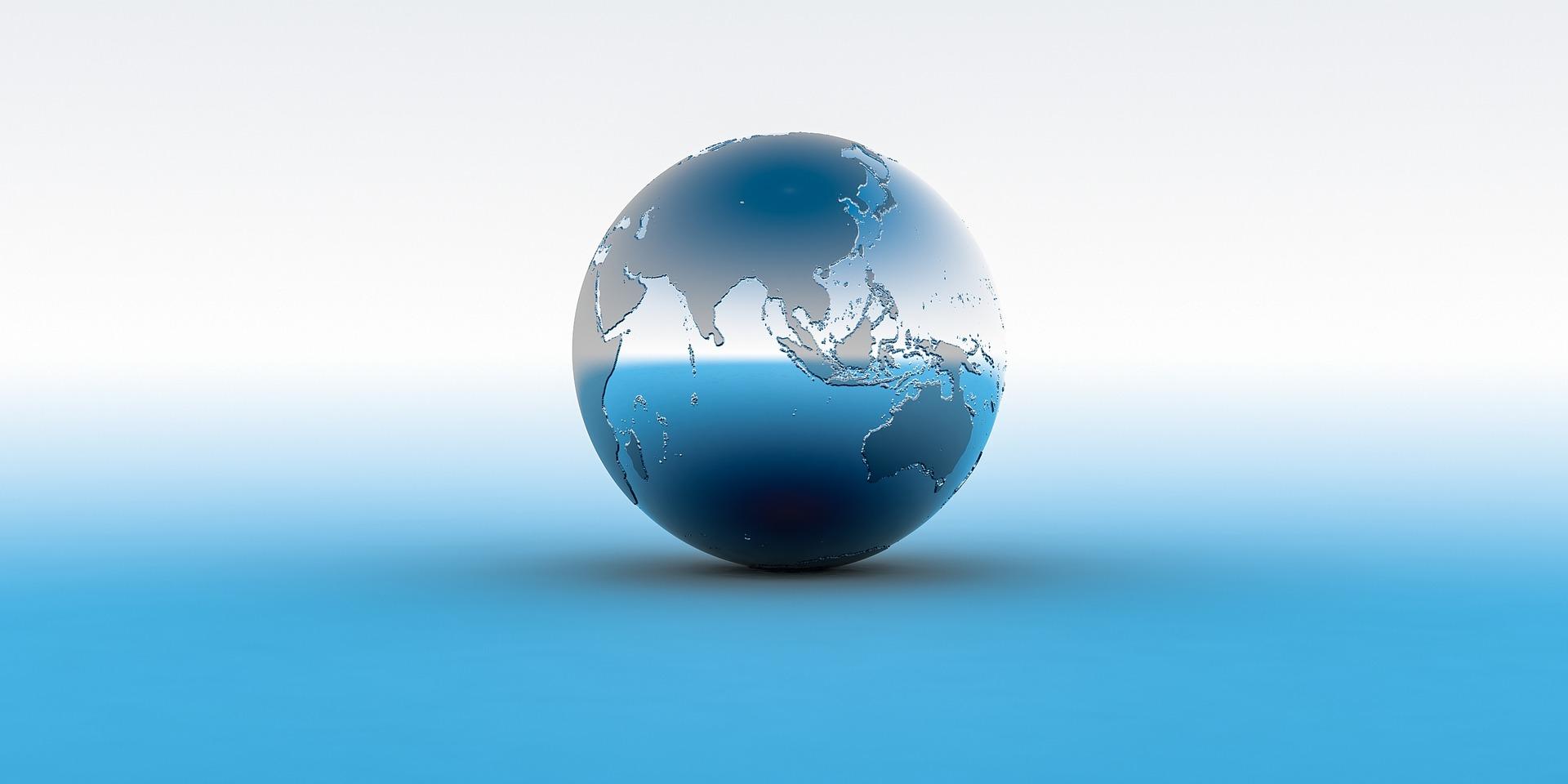 球体の世界地図