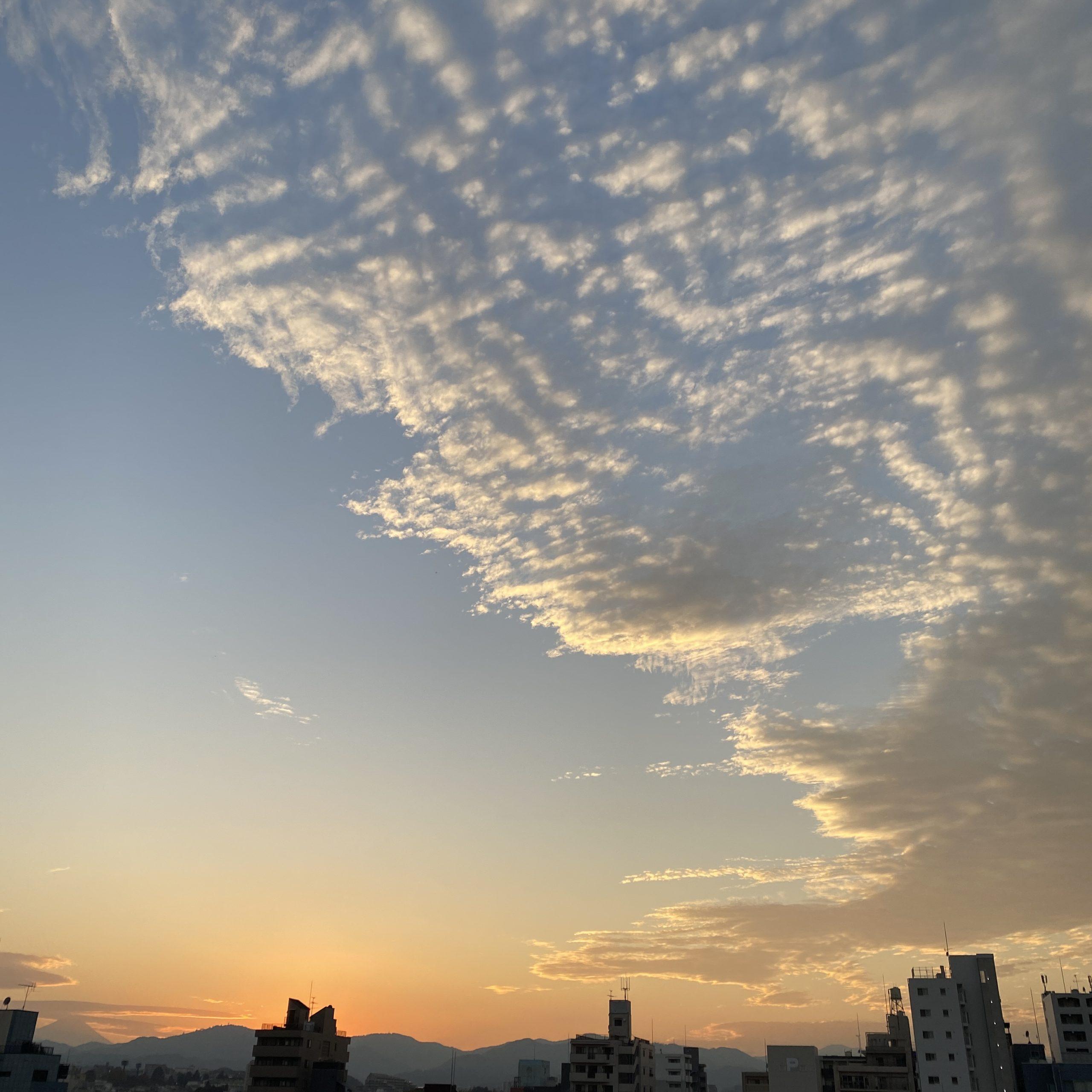 11月3日(火)の夕焼け